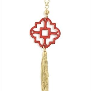 Red Zenzii long necklace